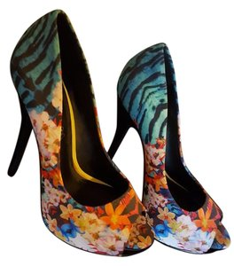 ALDO Peep Toe Floral Multi Pumps