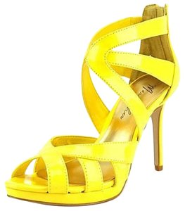 Marc Fisher Heels Statement Heel Yellow Sandals