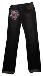 Ed Hardy Relaxed Fit Jeans-Dark Rinse