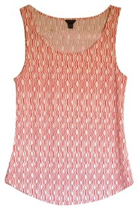 Ann Taylor Sleeveless Top Orange And White