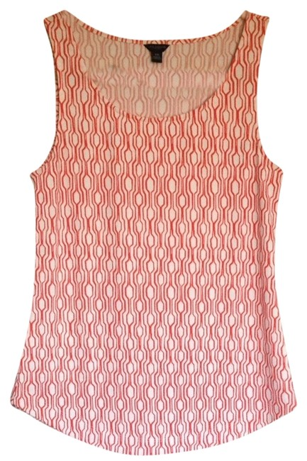 Preload https://img-static.tradesy.com/item/1650819/ann-taylor-orange-and-white-tank-topcami-size-2-xs-0-0-650-650.jpg