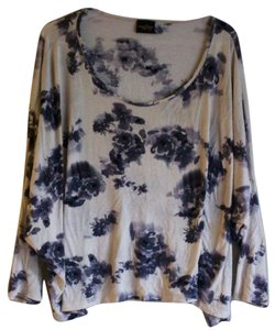 Anthropologie Floral Dolman Longsleeve Boho Casual Top White