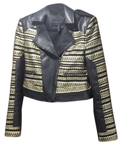 BCBGMAXAZRIA Black and gold Blazer