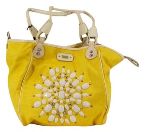 Rafe Embellished Patent Leather Tote in Yellow