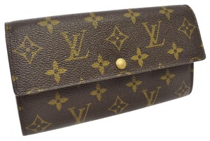 Louis Vuitton AUTH LOUIS VUITTON PORTE MONNAIE CREDIT WALLET PURSE MONOGRAM M61726 Sarah