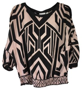 New York & Company Top Taupe/Black