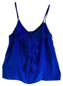 Forever 21 Sleeveless Tank Ruffle Top Blue