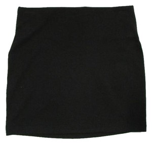 BCBGeneration Knit Stretch Pencil Fitted Mini Skirt Black