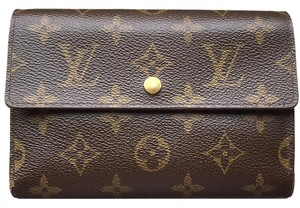 Louis Vuitton (SAME DAY SHIPPING) Authentic Long Wallet PVC Trifold Coin Case Mens Clutch Bag Monogram