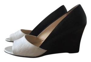 Franco Sarto white and black Wedges