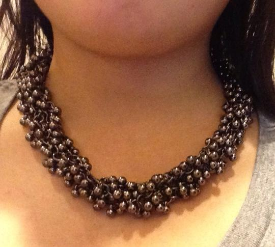 Other Gun Metal Tangled Chain Necklace
