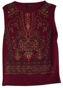 Buffalo David Bitton Top Brick red with print