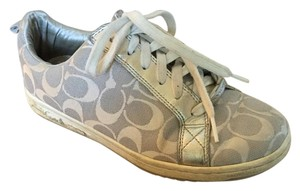 Coach Sneakers Monogram Silver Athletic