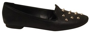 Kenneth Cole Reaction Loafers Studs Gold Comfortable Black Flats