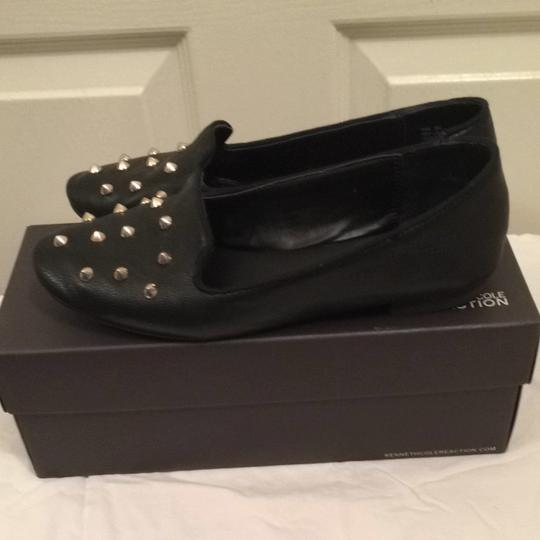 Kenneth Cole Reaction Loafers Studs Gold Kennethcolereaction Comfortable Black Flats