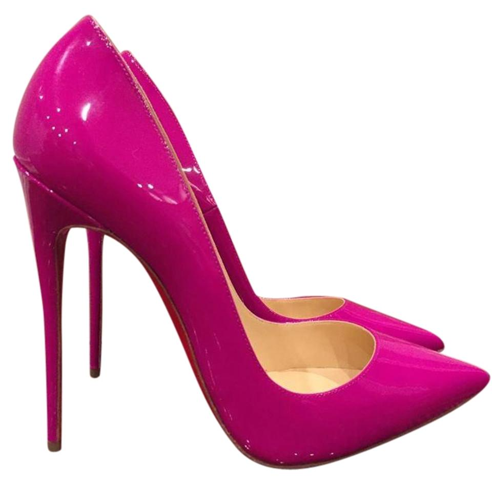4a5f50eae87 Christian Louboutin Pink So Kate 120 Indian Rose Patent Heel 36.5 Pumps