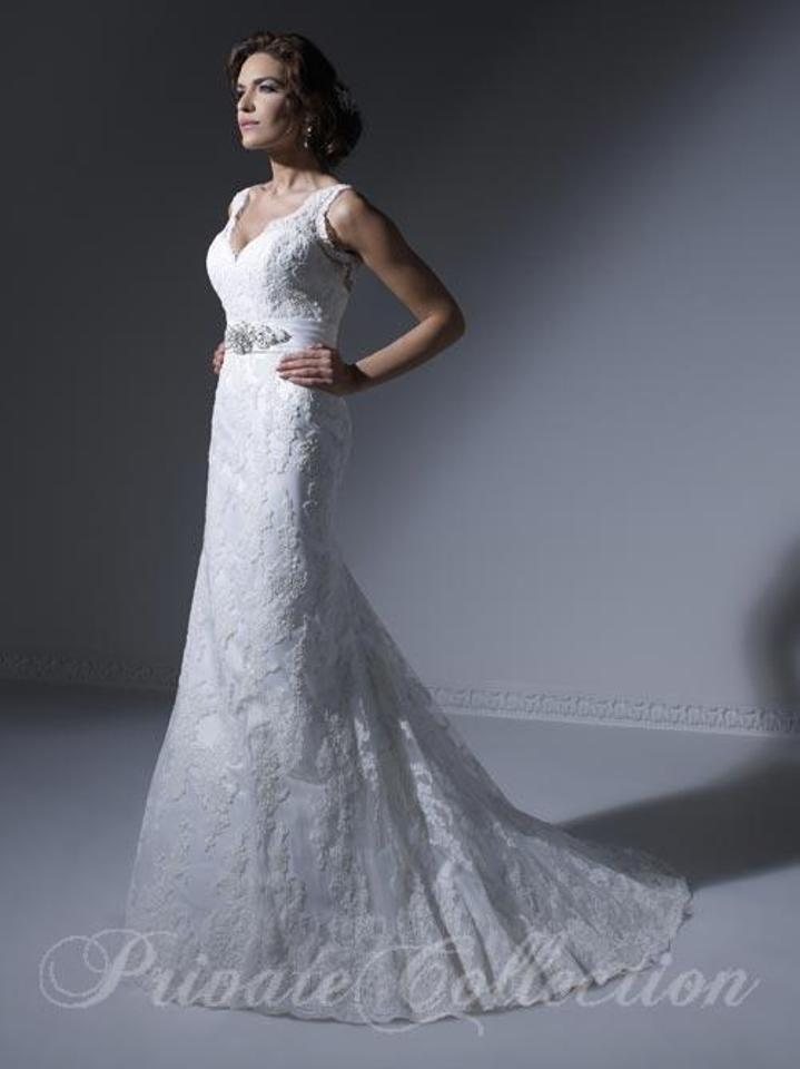 House of Wu Ivory Lace 18850 Feminine Wedding Dress Size 12 (L ...