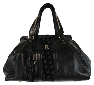 L.A.M.B. Leather Handbag Satchel in Black