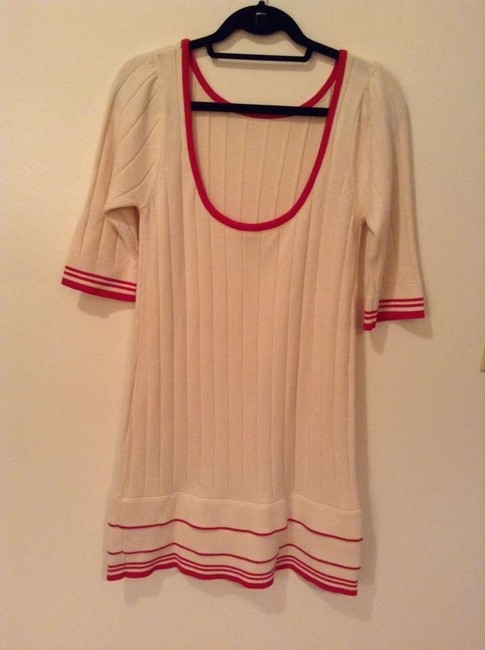 Diane von Furstenberg short dress Cream/red Dvf Stripes Minidress on Tradesy