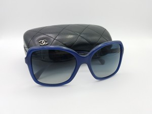 Chanel Chanel Bijou Blue Crystal Square Sunglasses 5308-B C1499/K5