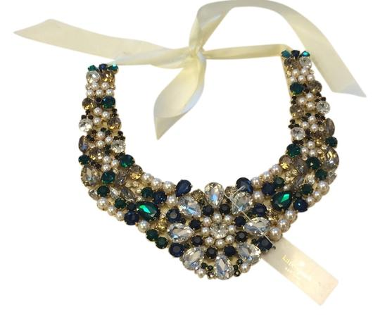Kate Spade Limited Run New w/ Tags Kate Spade Pearl Crystal Bib Necklace MSRP$498 Bridal/Wedding Image 2