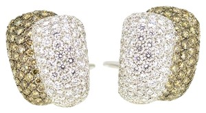18K White Gold 8.0Ct White Chocolate Diamond Clip On Earrings