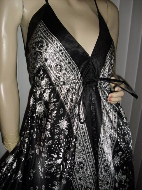 black & white Maxi Dress by Scarf Dress Image 1