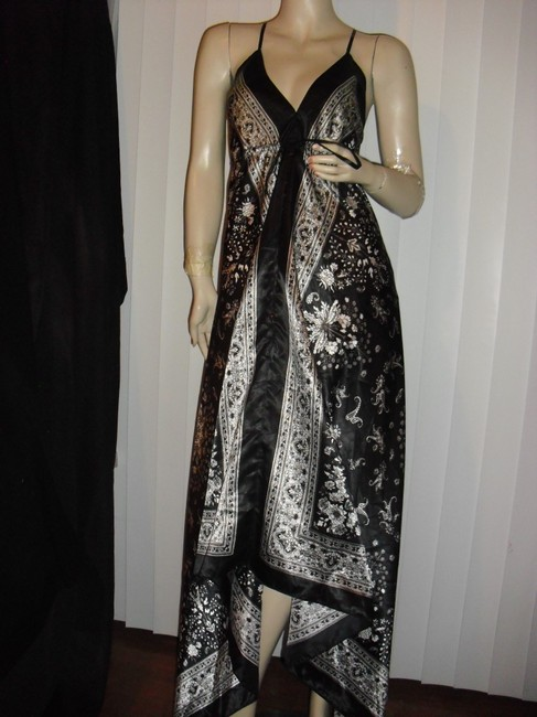 black & white Maxi Dress by Scarf Dress Image 2