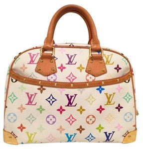 Louis Vuitton Satchel in white multi color