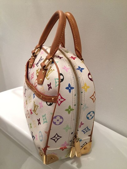 Louis Vuitton Satchel in white multi color Image 9