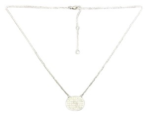 Knowles&Co Sterling Silver & F aux Diamond Necklace