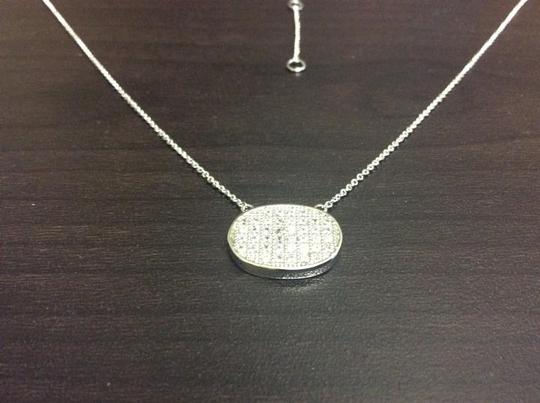 Other Knowles&Co Sterling Silver & F aux Diamond Necklace Image 2