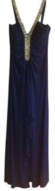 Preload https://item3.tradesy.com/images/js-boutique-navy-beaded-ruched-jersey-gown-long-formal-dress-size-10-m-165107-0-0.jpg?width=400&height=650