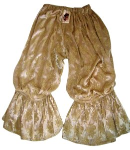 MAGNOLIA PEARL Pantaloons Vintage Wear Bloomers Baggy Pants Gold Damask