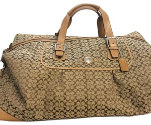 Coach Khaki Travel Bag