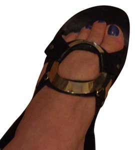 Barbara Bui Black with gold Sandals