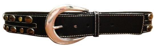 Michael Kors Black with tiger eye jewels and stainless steel buckle
