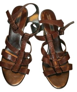 Banana Republic Gladiator Michael Kors Tory Burch brown bronze Sandals