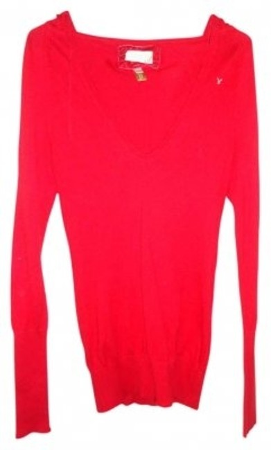 Preload https://item1.tradesy.com/images/american-eagle-outfitters-red-hooded-sweatshirt-sweaterpullover-size-4-s-165115-0-0.jpg?width=400&height=650
