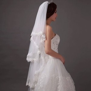 Illusion Tulle Bridal Veil With Comb Ivory