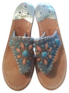 Jack Rogers Pumps Made In Usa Blue, turquoise, peach Sandals