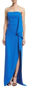 Halston Evening Gown Strapless Maxi Dress