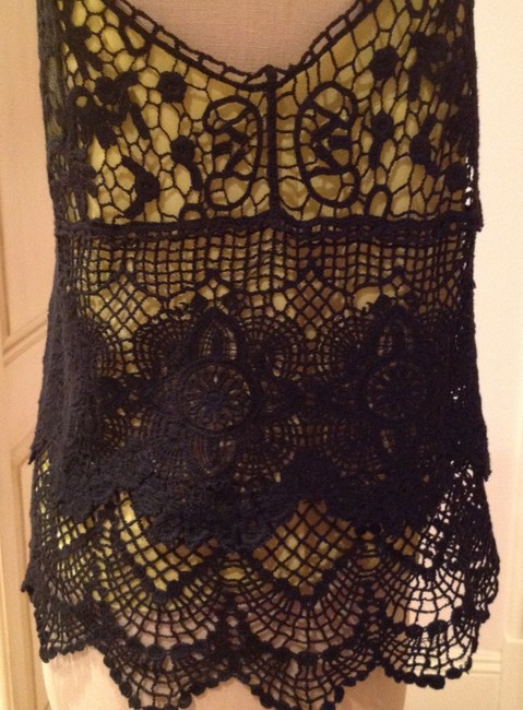 Other Top Black and chartreuse Image 3
