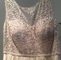Jenny Yoo Champagne Lace Chiffon Traditional Bridesmaid/Mob Dress Size 10 (M) Image 1