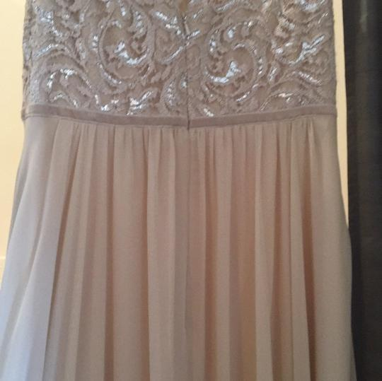 Jenny Yoo Champagne Lace Chiffon Traditional Bridesmaid/Mob Dress Size 10 (M) Image 3