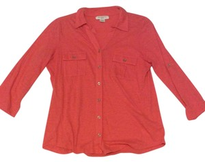 Liz Claiborne Button Down Top Coral
