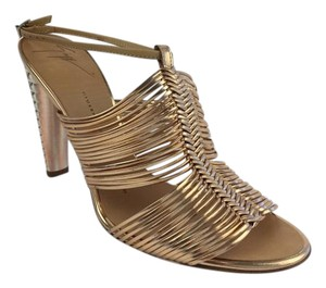 Giuseppe Zanotti Rose Leather Sandal Gold Sandals