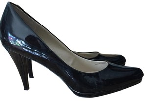 Ellen Tracy Platform Heels Black patent leather Pumps