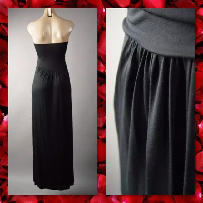 Black Maxi Dress by Other Maxi Strapless Pockets Long Tube Image 4