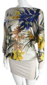 SuperTrash Batwing Blouson Floral Bodycon Cream Dress